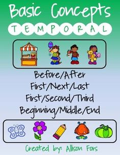 Printable, ready to use worksheets to target basic to complex temporal concepts!