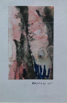 E.Besozzi pitt. 1965 Natura tempera e china su cartoncino cm. 15x10 arc. 773