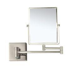 Makeup Mirror, Nameeks AR7721-SNI, Satin Nickel Double Face 3x Wall Mounted Makeup Mirror AR7721-SNI