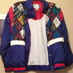 80's/ 90's Vintage Jacket w/ Padded Shoulders This colorful mosaic of jacket is an eye grabber. It is in mint condition. I fell in love with this jacket but I never wore it out. I'd love if someone would fall in love with it too! Sunterra Jackets & Coats