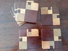 Fibonacci coasters - wood and math - awesome!