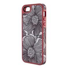 Speck iPhone 5/5S/SE FabShell Case - FreshBloom Coral Pink / Black