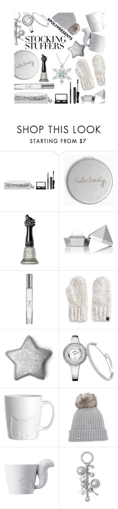 """""""#PolyPresents: Stocking Stuffers"""" by mia-christine ❤ liked on Polyvore featuring MAC Cosmetics, Katie Loxton, Anna Sui, Trish McEvoy, Cuddl Duds, Calvin Klein, Kinto, Michael Kors, contestentry and polyPresents"""