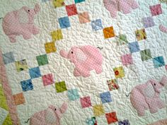 Elephant+Baby+Qult+by+ThreadNThimbleQuilts+on+Etsy,+$95.00