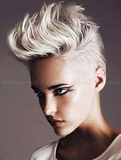 Blonde Punk Short Hair