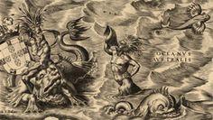 Americas map- sea monsters
