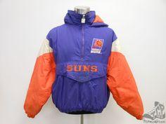 Vtg 90s Logo 7 Phoenix Suns Hooded Pullover Coat jacket sz XL Extra Large  NBA  Logo7  PhoenixSuns  tcpkickz ab56c1fdf