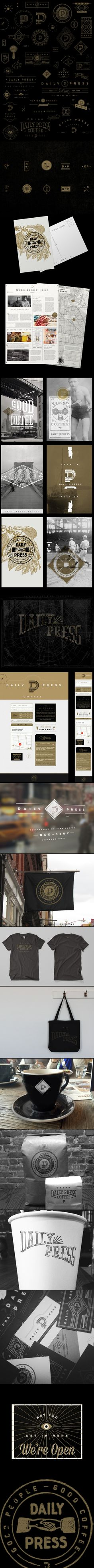 Daily Press in Brooklyn coffee time #identity #packaging #branding PD