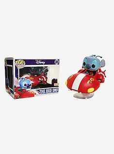 presents a stylized vinyl collectible figure of Stitch piloting his red rocket ship, from the Disney animated classic, Lilo & Stitch . A BoxLunch Exclusive! Rides 35 3 tall Vinyl Imported By Funko Disney Pop, Disney Pixar, Lilo Y Stitch, Cute Stitch, Stitch Toy, Pop Vinyl Figures, Best Funko Pop, Anime Crafts, Pop Figurine