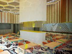 ROW Studio - Is een architectuur en design bedrijf en is in 2005 opgericht door Alvaro Hernandez Felix, Nadia Hernandez Felix en Alfonso Maldonado. Voor de herinrichting van Asado Brasil, een Braziliaans Rodizo restaurant heeft Row Studio gekozen voor een open en vrij ontwerp waarbij de behoefte van de klant voorop staat. De combinatie van verschillende prints, kleuren en vormen kan erg druk en chaotisch over komen, maar dat is bij dit restaurant niet het geval. Het ziet er aantrekkelijk…