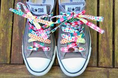 DIY fabric shoelaces--cute idea!
