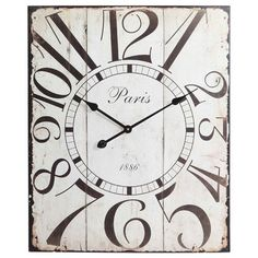 Whimsical Paris Wall Clock.