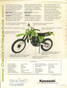 1980 Kawasaki KLX250 Questions & Answers FAQ / Photos/ Specs