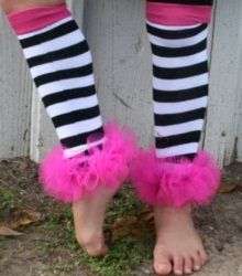 Black and White Striped Bunny Legs