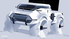 "OnePen Design Studio on Instagram: ""OnePen SKBK Demo Tesla Truck & NASA SpaceX Demo by @macotodesign #tesla #teslacybertruck #elonmusk #space #teslatruck #teslasemi…"" Interior Design Sketches, Industrial Design Sketch, Car Design Sketch, Truck Design, Car Sketch, Photoshop Rendering, Music Drawings, Truck Interior, Street Racing"