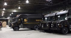 Fleet of UPS delivery vehicles Ups Delivery, Parcel Delivery, Package Delivery, Truck Transport, United Parcel Service, Long Haul, Over The Years, Brownies
