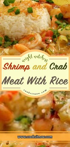Shrimp and Crab Meat With Rice, You can replace the Shrimp or Crab with other seafood like lobster or scallops. Shrimp and Crab Meat With Rice, You can replace the Shrimp or Crab with other se. Shrimp And Crab Meat Recipe, Can Crab Meat Recipes, Shrimp And Lobster, Crab Stuffed Shrimp, Shrimp And Rice, Healthy Meat Recipes, Lobster Recipes, Seafood Recipes, Cooking Recipes