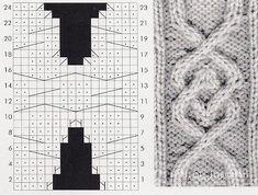 Узоры викингов (1) ..................................... Cable Knitting, Knitting Charts, Knitting Stitches, Hand Knitting, Cable Chart, Stitch Patterns, Knitting Patterns, Knit Crochet, Cross Stitch
