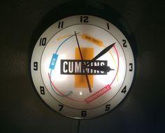 1950's Cummins Turbodiesel Double Bubble Advertising Clock Authentic Vintage #AdvertisingProductsInc