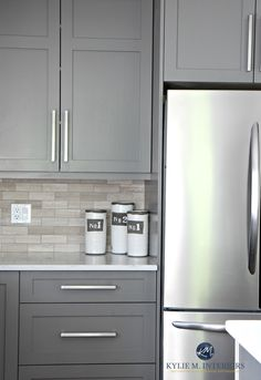 Benjamin-Moore-Amherst-Gray-painted-cabinets-driftwood-backspash-in-subway-tile-layout.-Kylie-M-Interiors-E-design.jpg 1,977×2,881 pixels