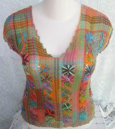 blusa de renda filé