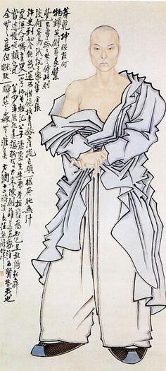 Ren Xiong, ca 1850, Zelfportret, Palace Museum Beijing. Ren Xiong was een vernieuwende Chinese schilder. Als autodidact zette hij zich af tegen de traditionele keizerlijke portretkunst. In zijn werk verbeeldde hij de spanning tussen oud en nieuw zoals die in het negentiende-eeuwse Shanghai ontstond onder invloed van de westerse wereld. School van Shanghai.