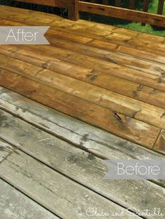 Great step by step instructions on how to clean your wood deck. // from Clean and Scentsible