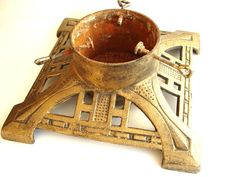 Vintage Cast Iron Christmas Tree Stand  Holiday by ThirdShift, $100.00