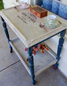 Shabby Chic Vintage Tea Trolley Chalk Paint
