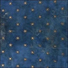 Stars on distressed blue ground