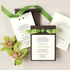 Color Duet Wedding Invitation | http://www.vintagevinylcds.com/