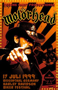 Motorhead 1999 Tour Poster by Tomasek on Etsy