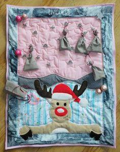 """Nähe einen Adventskalender-Quilt """"Oh my Reindeer!"""", an den man 24 Geschenke hänge kann Diaper Bag, Sewing Projects, Quilts, Bags, Sewing Patterns, Tutorials, Gifts, Kids, Handbags"""
