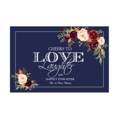 Navy Cheers To Love & Laughter Wedding Wine Labels - kitchen gifts diy ideas decor special unique individual customized