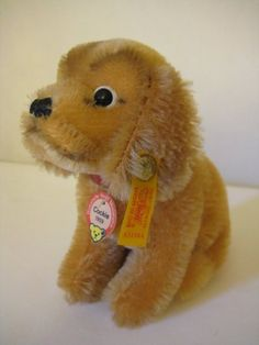 Steiff Vintage Cockie Cocker Spaniel Replica - 1994 to Only - All Ids - EAN 031564 - Historic Miniature - Excellent Condition Bear Face, Shipping Boxes, Cocker Spaniel, Etsy App, I Shop, Conditioner, Miniatures, Teddy Bear, Vintage