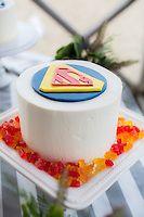 Nantucket Wedding. Superman Cake. Katie Kaizer Photography