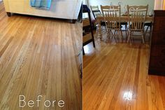 natural hardwood floor cleaner recipe.  I do this without the olive oil when I need a deep clean.