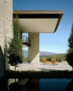 Nice undercroft. A gorgeous Vineyard Estate in Sonoma by Aidlin Darling Design