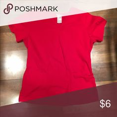 Red Scrub Top Sz Sm Red scrub top size small Tops