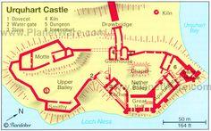 Urquhart Castle - Floor plan map