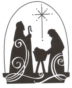 Love this nativity silhouette.  For my Silent Night, Holy Night pillows.