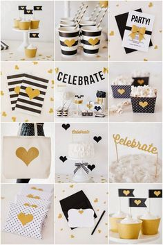 Gold Themed Party Gold bridal showers Themed parties and Gold