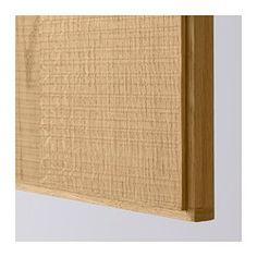 IKEA - HYTTAN, Porte élément bas d'angle, 2pcs, , La porte HYTTAN se caractérise par un placage en chêne d'aspect brut et verni mat, faisant ressortir la texture du bois. Au final, l'effet est chaleureux et naturel.Le cadre en bois massif apporte de la solidité et rend la porte plus résistante.La couleur du placage bois fonce et embellit avec le temps, tout comme le bois massif.Vous avez le choix entre plusieurs solutions d'angle, les portes pouvant être mo...