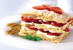 Çilekli milföy pasta malzemeleri 12 adet milfoy 15-20 adet çilek Pudra şekeri Muhallebi için: 2 su bardağı süt 1 yemek kaşığı un 1 çimdik tuz 1 yumurta sarısı 1 paket vanilin 1 su bardağı toz şeker Çilekli milföy pastası nasıl yapılır Çilekli milföy pastası tarifi Çilekli milföy pastası yapımına önce muhallebisini hazırlayarak başlayalım. Bunun için... Tarifi »