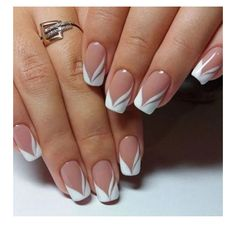 french nails nude-square-lace-white-triangular-long-elegant-bridal-nails-ring - All About Hairstyles French Nails, New French Manicure, French Manicure Designs, Pedicure Designs, Nail Art Designs, French Manicures, Nails Design, French Pedicure, Manicure Colors