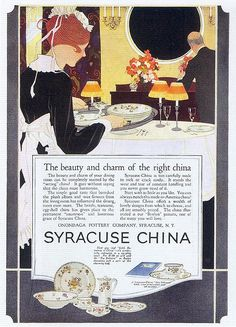 I love Syracuse China.  If you can find some of the restaurant vegetable relish trays, they make great catch-alls.  We have a vintage pink Syracuse China vegetable dish that we use for bathroom soaps.  Looks lovely in an art deco bathroom.