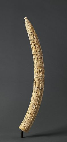 Tusk with Figurative Relief Date: ca. 1880-1890 Geography: Democratic Republic of the Congo, Loango Coast; Republic of the Congo; Cabinda, Angola Culture: Kongo peoples; Vili group Medium: Ivory Dimensions: H. 27 in. (68.6 cm