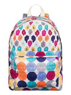Sugar Baby - ROXY 1 Hauptfach für Frauen  Der Sugar Baby ist Teil der Roxy Spring/Summer Accessories Collection 2015. Dieser Rucksack für Frauen zeichnet sich durch ein Hauptfach und eine vordere Tasche aus. Weitere besondere Features sind: Printed Design, hergestellt aus 100% Polyester.  Merkmale:  1 Hauptfach, Front-Tasche, Print-Design, Volumen: 16 L,  Dieses Produkt besteht aus:  100%...