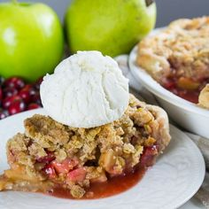 A pie that plays on all sorts of flavors and textures from tart cranberries and apples to spicy crystallized ginger to a flaky crust.
