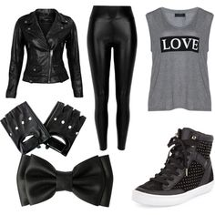 edgy punk look with a touch of girly by crazylolo2001 on Polyvore featuring polyvore fashion style Carmakoma VIPARO River Island Rebecca Minkoff
